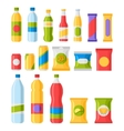 Fast food snacks and drinks flat icons vector image vector image