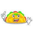finger omelatte fried isolated on the mascot vector image vector image