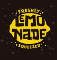 freshly squeezed lemonade typographic logo label vector image