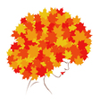 girl Autumn vector image