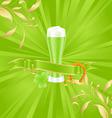 green beer vector image vector image