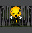 halloween background with witch ghost haunted vector image vector image