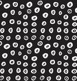 Hand drawn black brush circles and dots seamless vector image vector image