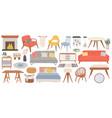 hygge furniture for home cozy interior decor vector image vector image