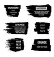 inked black paint brushed rectangle boxes and vector image vector image
