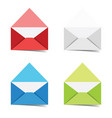 letter envelope colored set vector image