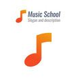 logo for music school with musical note with vector image vector image