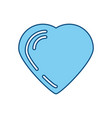 lovely heart symbol vector image vector image
