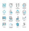 marketing environment icon collection set vector image vector image