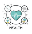 mental health design vector image vector image