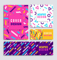 modern colorful geometric shape card set vector image vector image