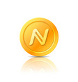 namecoin symbol icon sign emblem vector image vector image