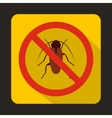No cockroach sign icon flat style vector image vector image