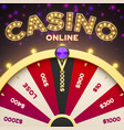 online casino game chance banner vector image