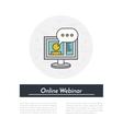 Online Webinar Icon vector image vector image