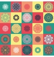 Pattern with round ornaments vector image vector image