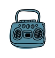 radio drawing isolated icon design vector image