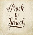 Retro Back to School Design vector image vector image