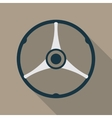 Retro Car Steering Wheel Icon Flat Symbol vector image