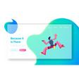 rock climbing sport and bouldering activity vector image vector image