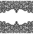 seamless vintage black lace border invitation vector image