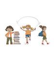 set kids activities vector image