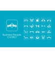 Set of business people conflict simple icons vector image