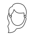 silhouette image caricature front view faceless vector image vector image