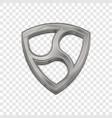 silver nem coin trendy 3d style icon vector image vector image