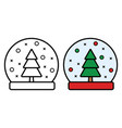 snow globe icon on white background vector image