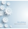 snowflakes background new year and christmas vector image