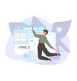 software developers working script coding vector image