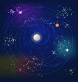 space pattern with planets and stars vector image vector image