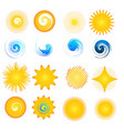 star sun symbol set vector image