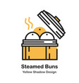 steamed bun lineal color vector image vector image