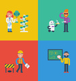 STEM characters concept vector image vector image