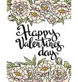 Stylish love poster with peonies Vintage lettering vector image vector image