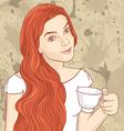 teagirl vector image