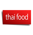 thai food red paper sign on white background vector image