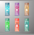 the set of vertical banners vector image vector image