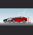 three electric vehicles vector image vector image