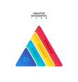 triangle with 4 options parts or steps for vector image