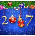 Golden New year 2017 sign vector image