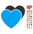 love hearts icon with love bonus vector image