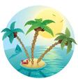 small island landscape vector image