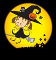 Halloween Little Wizard 002 vector image