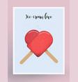 postcard design ice-cream love vector image
