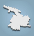 3d isometric map kalimnos is an island in vector image vector image