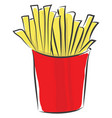 a box french fries or color vector image vector image