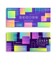 abstract geometric shape pastel color card set vector image